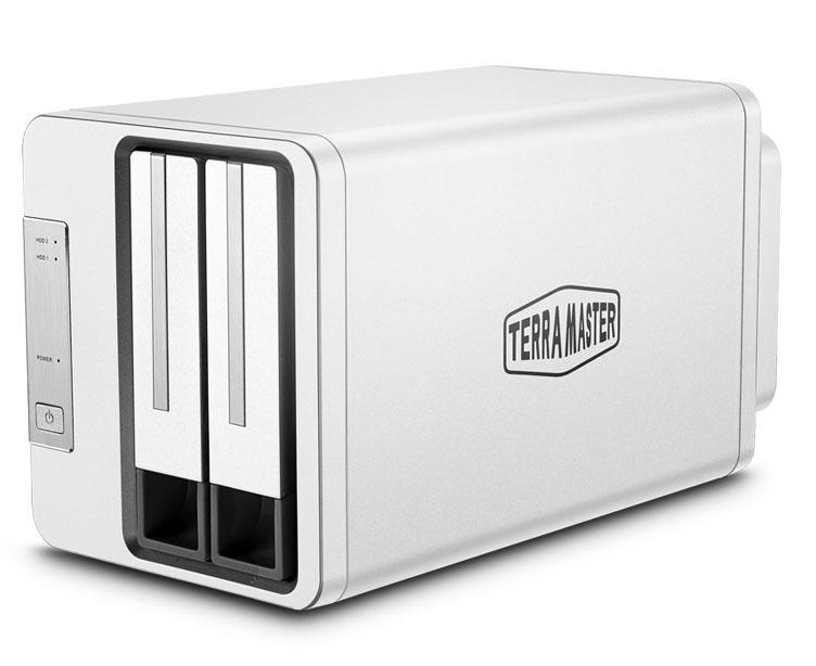 Bộ lưu trữ dữ liệu DAS TerraMaster D2-310 USB Type-C, 2 khay ổ cứng RAID 0,1,JBOD,Single - Hàng chính hãng
