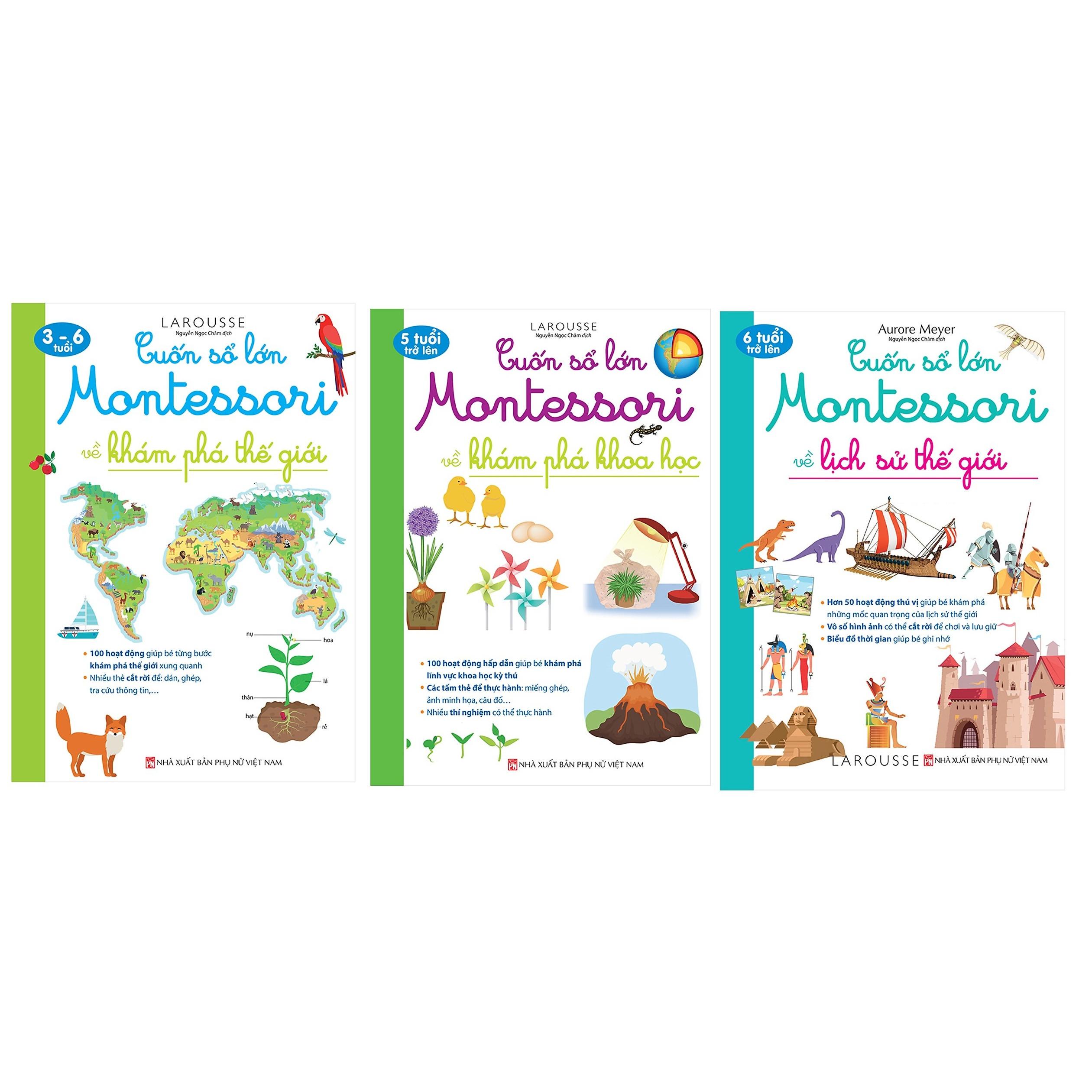 Bộ 3 cuốn sách Cuốn Sổ lớn Montessorry