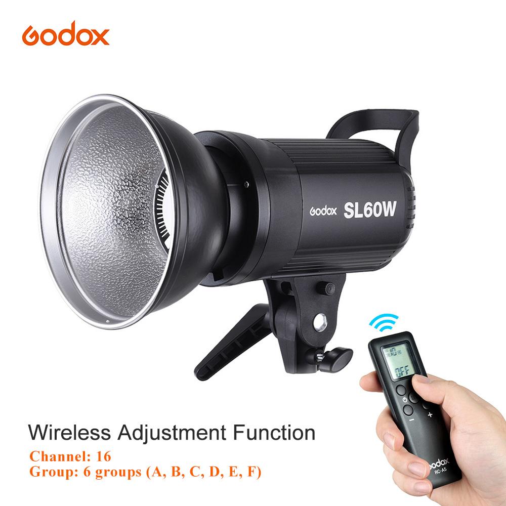 Godox SL -60W 5600K 60W High Power LED Video Light Wireless Remote Control with Bowens Mount for Photo Studio Photography - Eu Plug