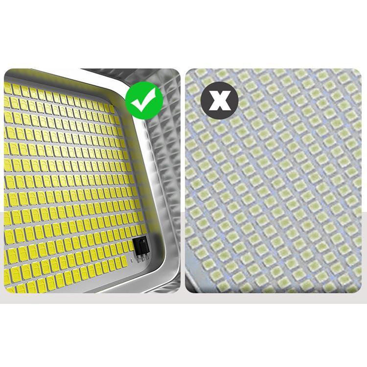 Đèn năng lượng mặt trời Solar light 500W 1 bóng đèn 302 chip Led, pin lithium 30.000Mah, sáng liên tục 10-15h