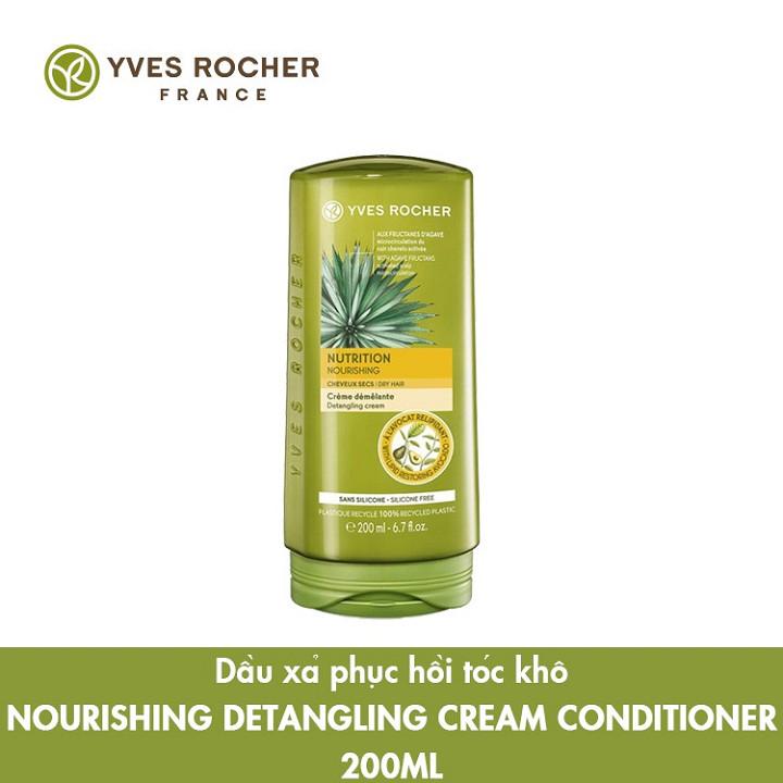 Dầu Xả Phục Hồi Tóc Khô Yves Rocher Nourishing Detangling Cream Conditioner 200ml [Mẫu Mới]