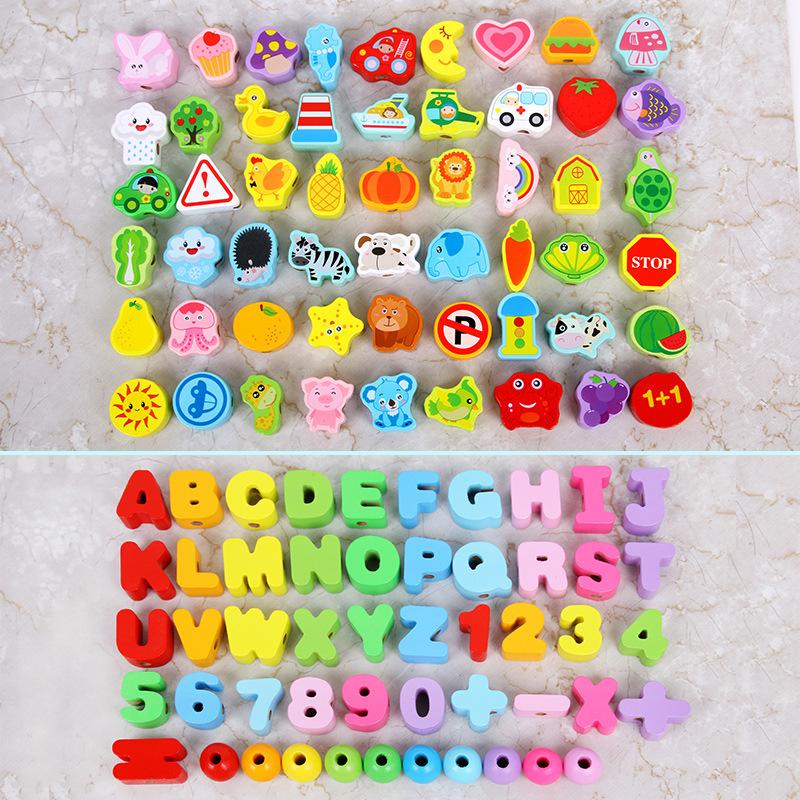 Đồ chơi luồn hạt - Bộ thế giới xung quanh 65 chi tiết ( Từ 1-3 tuổi)