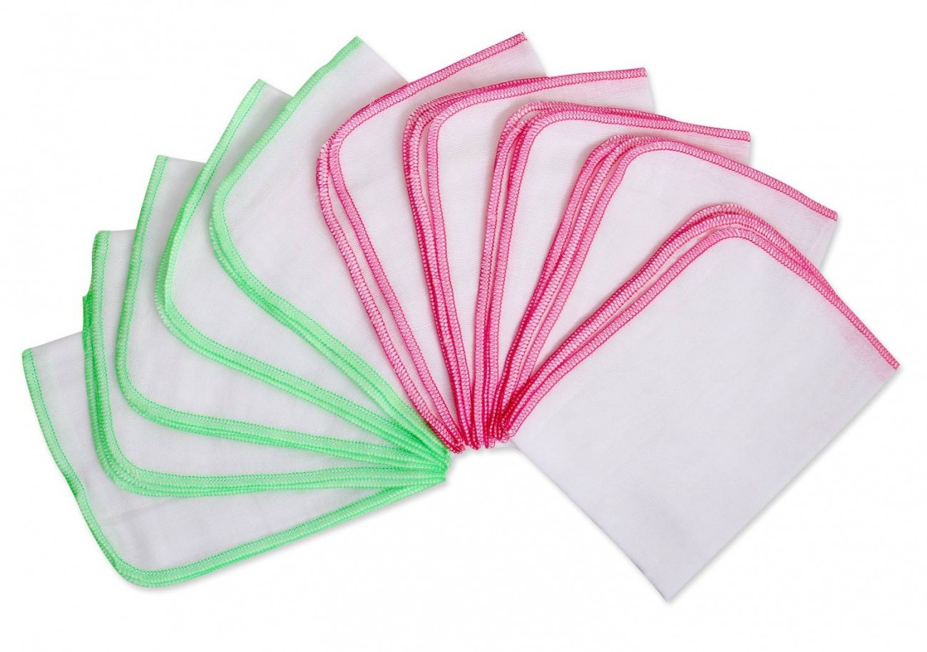 Combo 30 khăn sữa sơ sinh 4 Lớp sợi dày Baby Bear kích thước 25x27 cm