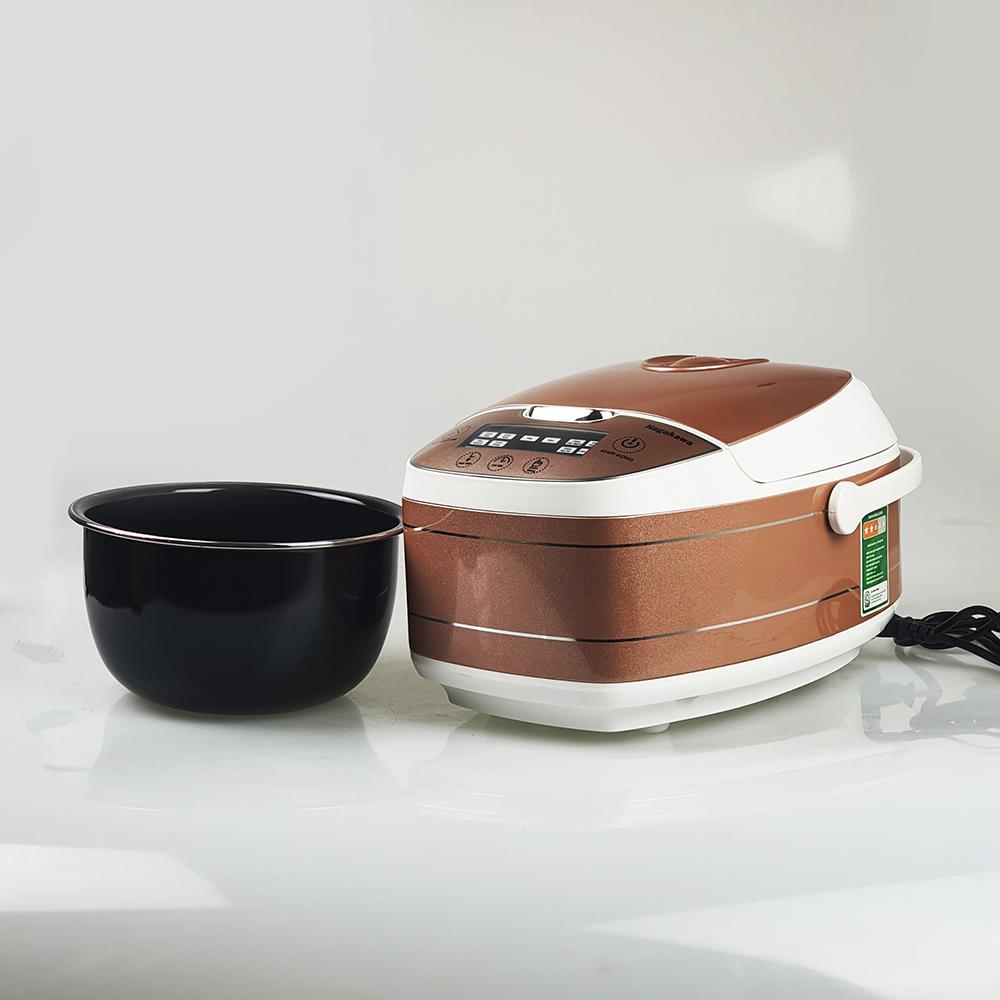 Nồi cơm điện cao tần 1.8L Nagakawa NAG0102 với 14 chức năng nấu và giữ ấm cơm - Hàng chính hãng