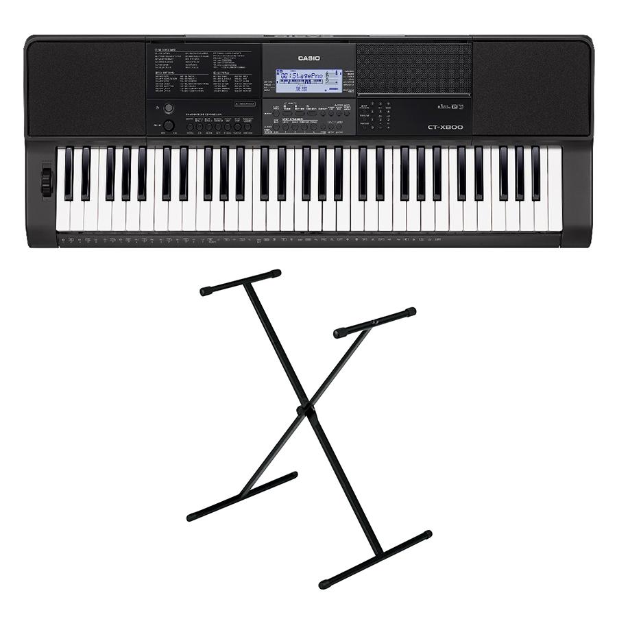 Bộ Đàn Organ Casio CT-X800 Kèm AD Giá Nhạc Và Chân