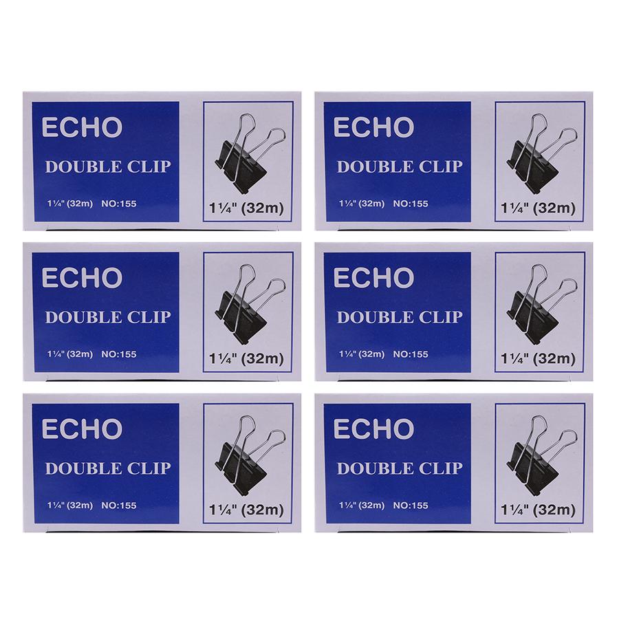 Bộ 3 Hộp Kẹp Bướm Echo (32mm) - Đen