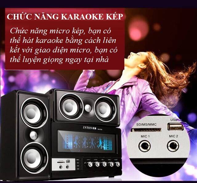 Bộ 3 Loa Bluetooth Nghe Nhạc SM-6700 Hỗ Trợ Hát Karaoke, Cáp AUX - Hàng Nhập Khẩu