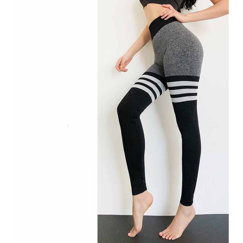 Quần legging nữ yoga, Quần legging nữ tập gym, Quần gym nữ cạp cao - Quần legging dài tập gym nữ nâng mông, gen bụng cực tốt tạo dáng eo thon chất liệu dệt cao cấp (SP046)