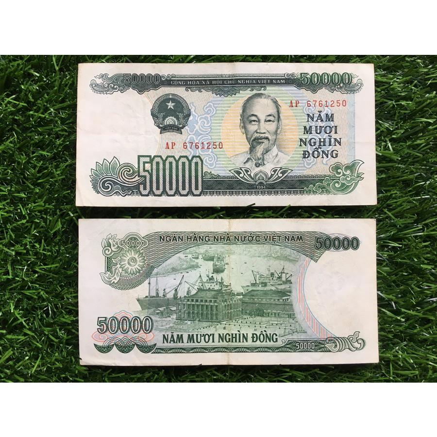 Tờ tiền 50 nghìn giấy cotton ngày xưa, chất lượng đẹp
