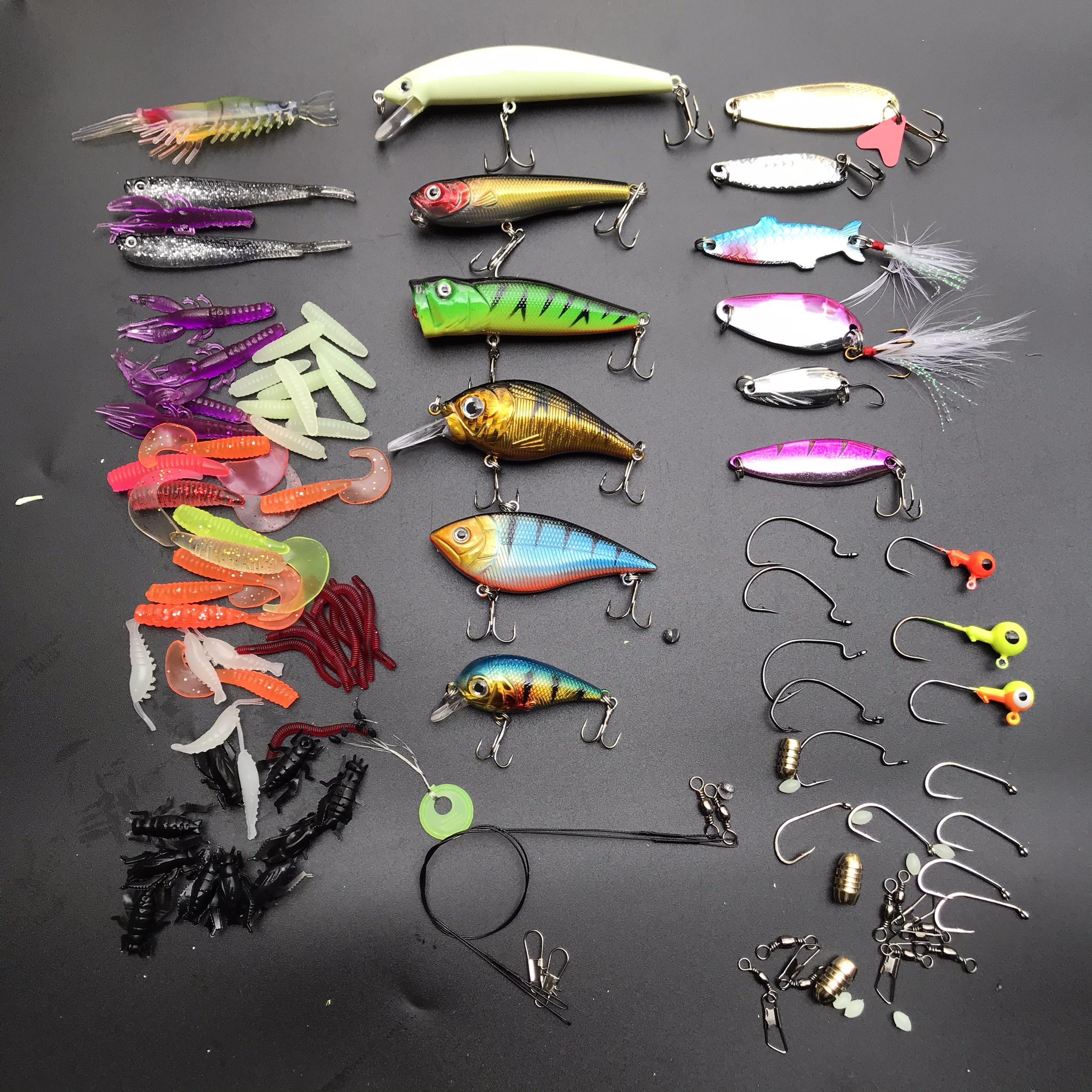Combo mồi giả câu cá và phụ kiện đi câu cá - Hộp mồi giả câu lure cá lóc, cá chẽm, cá mú,... cực nhạy và tiện lợi