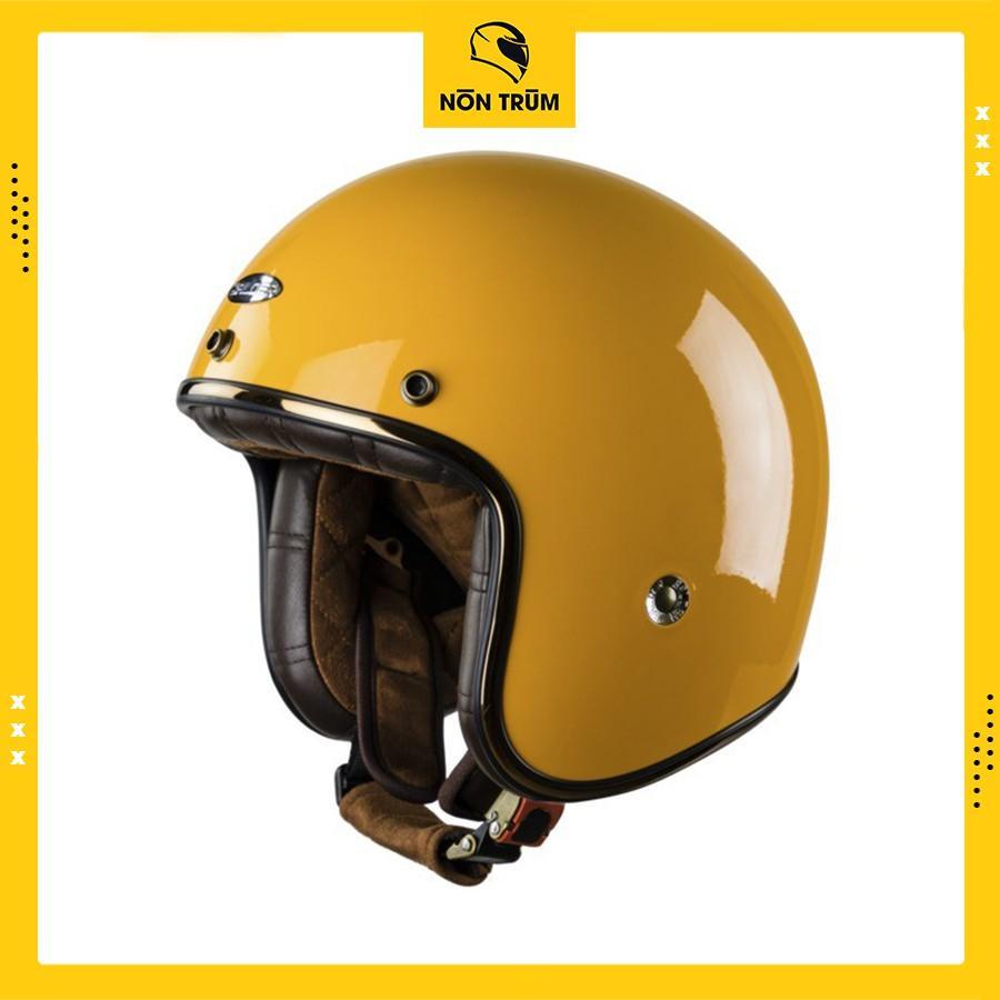 Nón bảo hiểm 3/4 Balder light màu vàng nghệ bóng