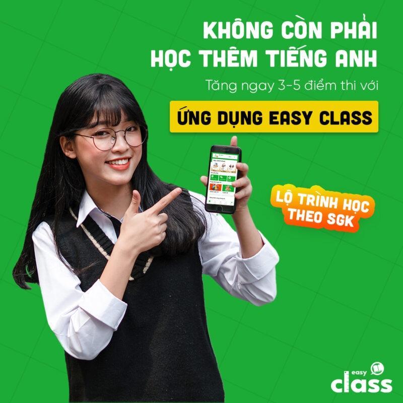 Ứng dụng Easy Class học tiếng Anh từ lớp 1 đến lớp 12 (Gói 1 năm) (hàng chính hãng)