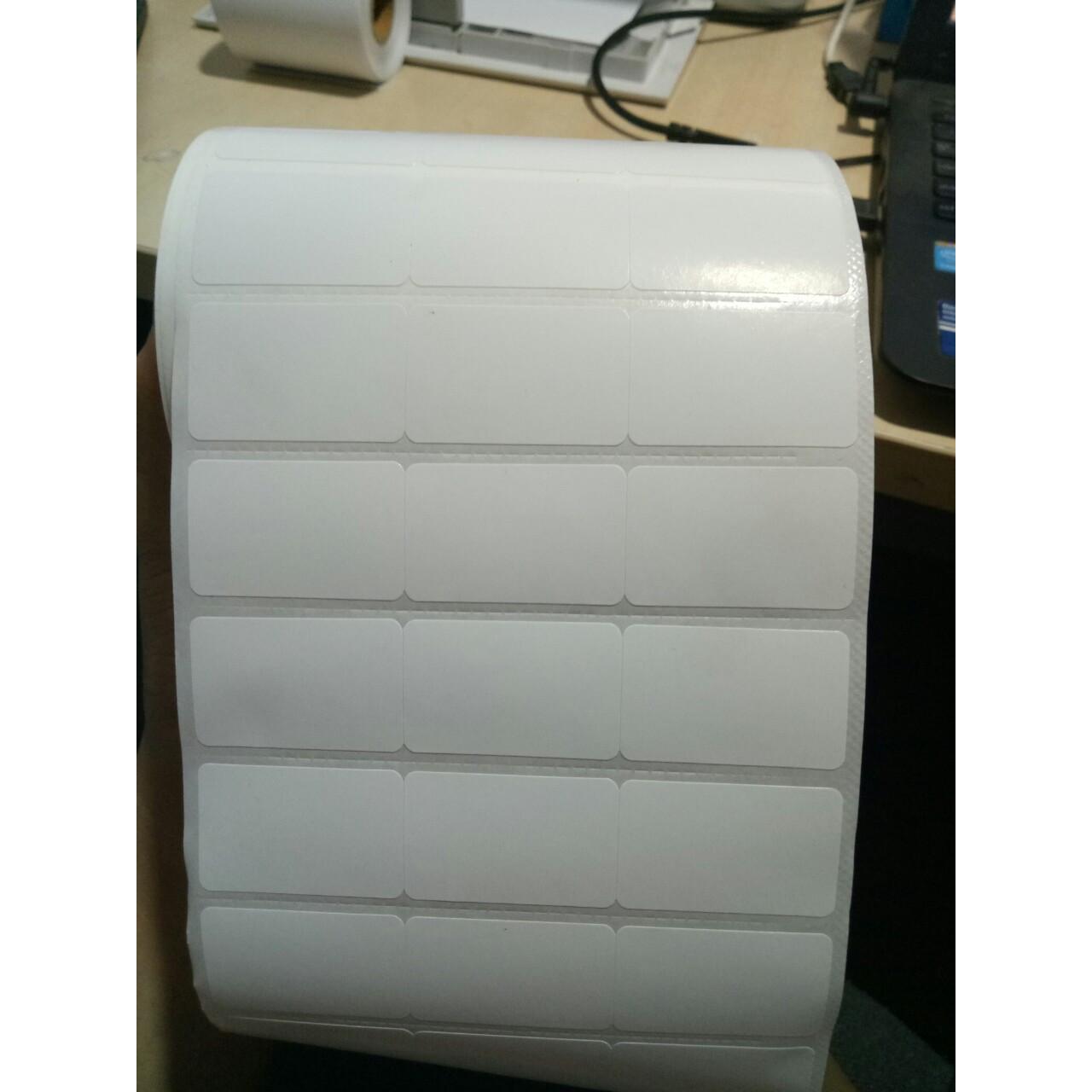 Set 5 cuộn giấy decal mã vạch thường khổ 3 tem 35*22mm - 50m