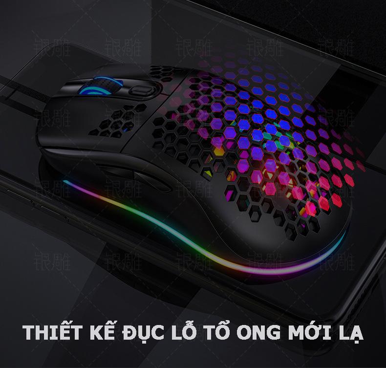 Chuột máy tính G7, chuột gaming có dây có độ phân giải lên đến 7200 DPI, sử dụng mượt mà trong công việc văn phòng và các trò chơi đỉnh cao- Hàng nhập khẩu