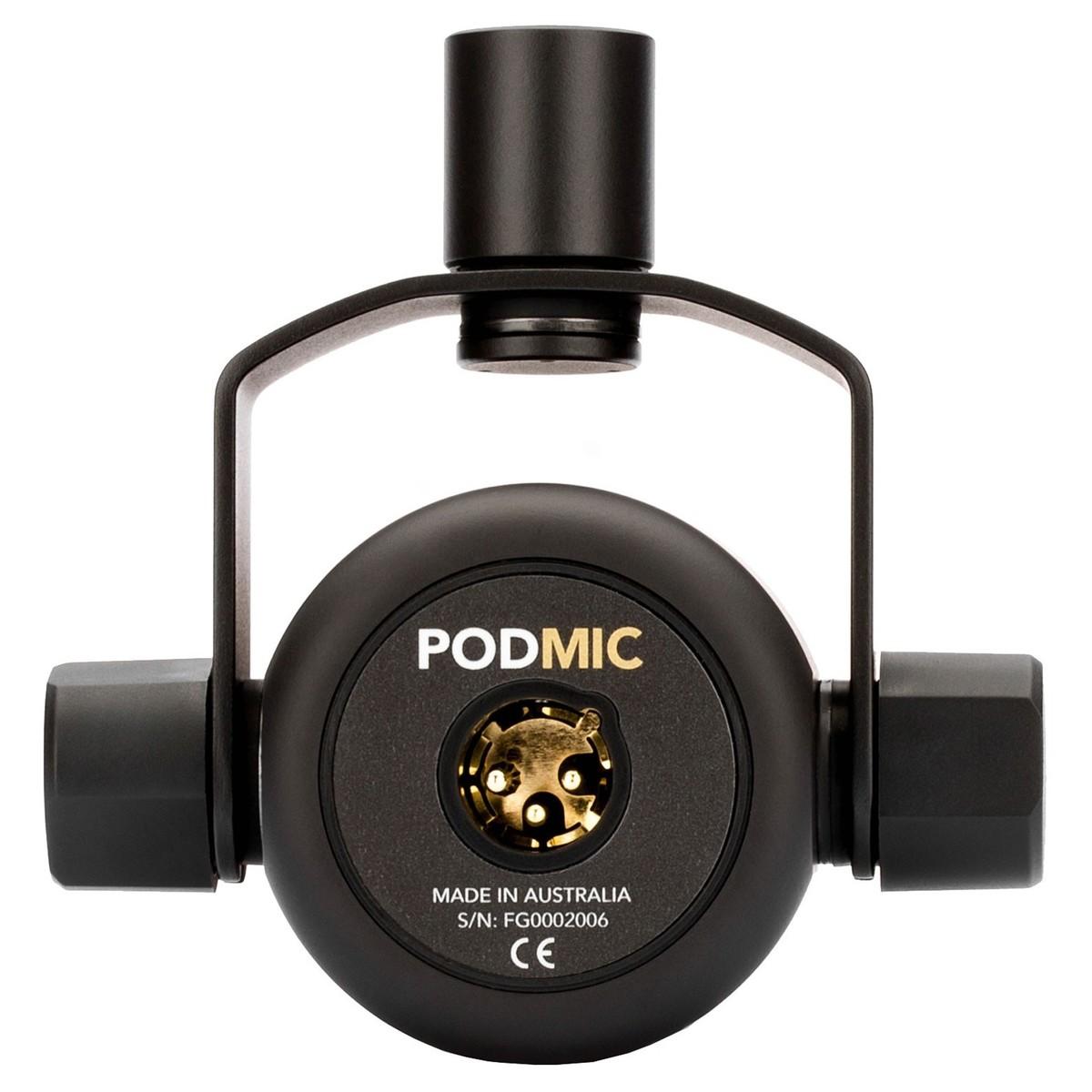 Rode Podmic - Micro Dynamic Cho Streamer, Hướng Thu Cardioid, Kết Nối Xlr - Hàng Chính Hãng
