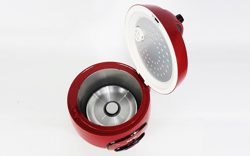 Nồi cơm điện nắp gài 0.8L nấu tầm 1-2 lon gạo Matika, công suất 400W, màu ngẫu nhiên-hàng chính hãng