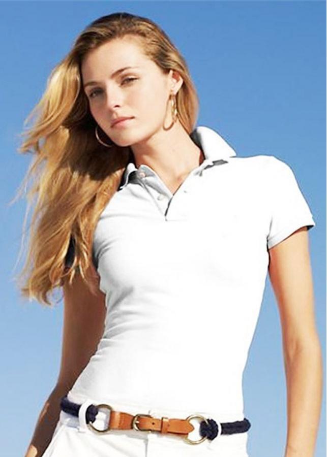 Áo polo tay ngắn nữ TB03 801 Trắng - Size 2XL