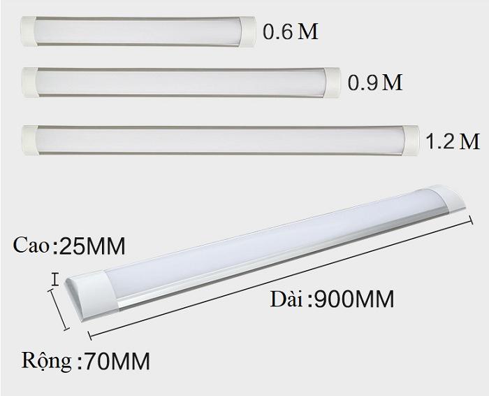Bộ 10 đèn tuýp led bán nguyệt trắng 120cm 36w