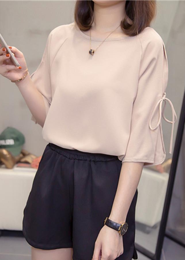 Áo sơ mi nữ chiffon tay nơ dịu dàng ArcticHunter, thời trang trẻ, phong cách Hàn Quốc, thương hiệu chính hãng