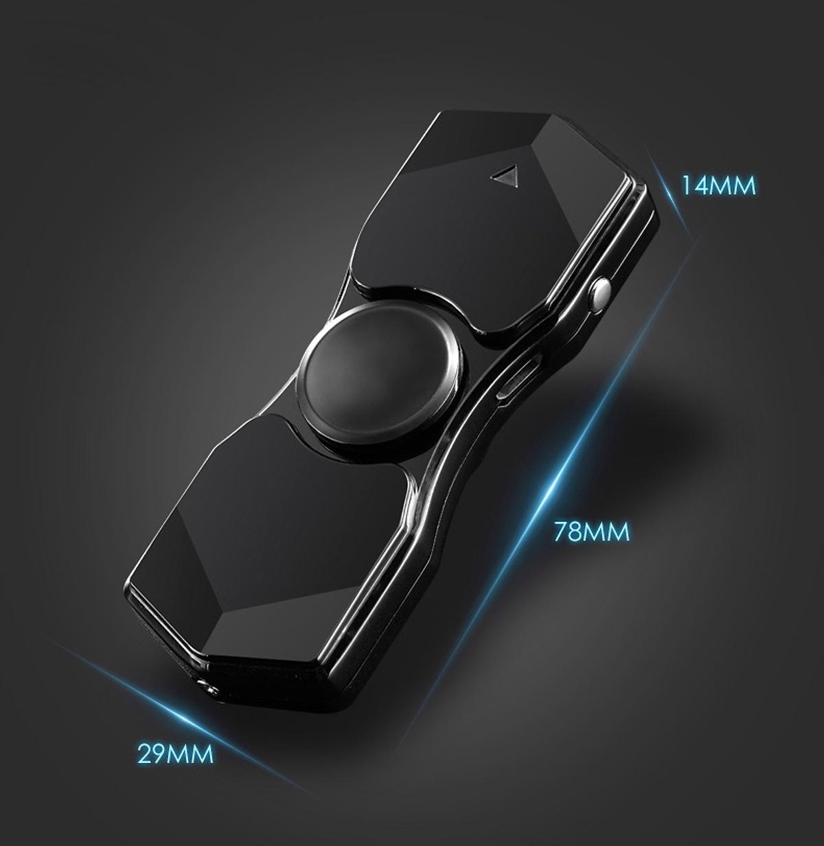 Hột Quẹt Bật Lửa Hồng Ngoại Kiêm Đèn Pin Sạc Điện USB Kiểu Dáng Spinner Tạo 12 Hiệu Ứng Đèn Led + Tặng Tai Nghe Bluetooth Cao Cấp (màu ngẫu nhiên) - Video Review
