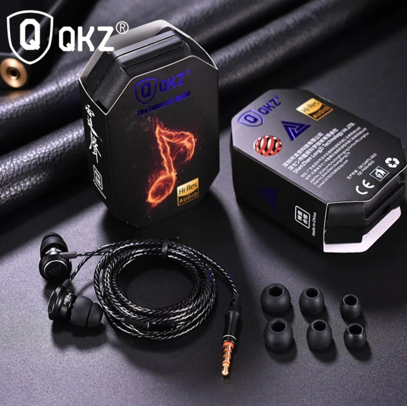 Tai nghe nhét tai QKZ AK1 Bass mạnh vỏ kim loại có micro - Hàng chính hãng
