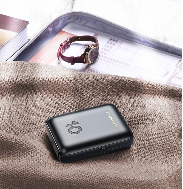 Sạc dự phòng  PISEN Quick SUPER Mini 10000mAh (PD & QC, 18W) - Hàng chính hãng