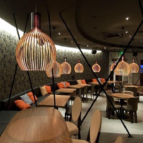 Đèn gỗ thả trần CAO CẤP hiện đại sang trọng chất liệu gỗ trang trí cho phòng khách nhà căn hộ decor nhà