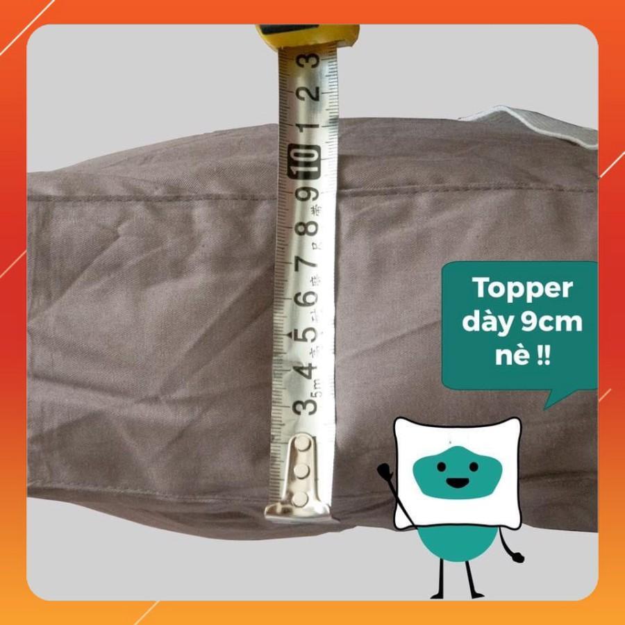Topper Lông Vũ Microfiber Cao Cấp Mềm Mịn Mát Nệm Trải Sàn, Topper Nệm Đa Năng Chuẩn Khách Sạn