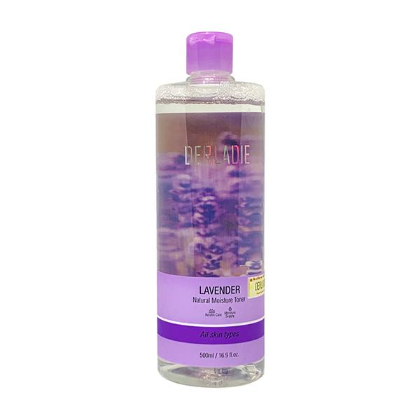 Nước hoa hồng kháng viêm, kiềm dầu và hỗ trợ làm giảm mụn Derladie Lavender Natural Moisture Toner 500ml