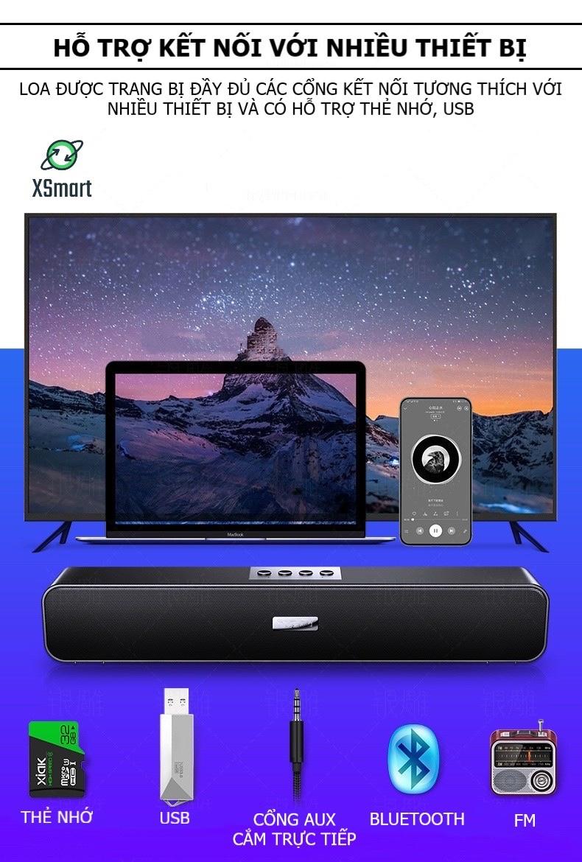 Loa Bluetooth Không Dây Cao Cấp XSmart A36 PRO BASS 2021 Âm Thanh Nghe Nhạc Siêu Đã Tương Thích Điện Thoại Máy Tính Laptop Tivi - Hàng Chính Hãng
