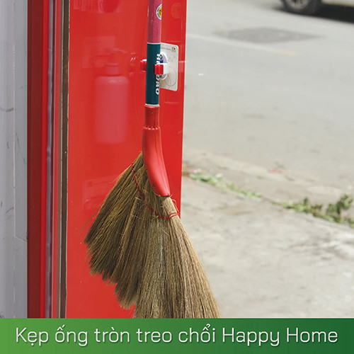 Kẹp ống tròn treo chổi Happy Home