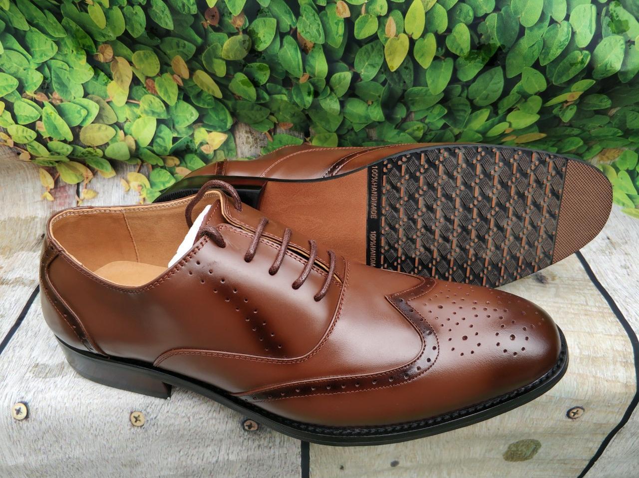Giày da nam công sở sang trọng lịch lãm -gl51 - nâu nhạt - 41