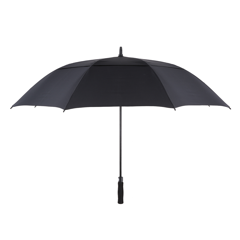 Tomshoo 61 Inch Oversized Automatic Auto Open Golf Umbrella Outdoor Extra Large Double Canopy Ventilated Windproof Stick - Black