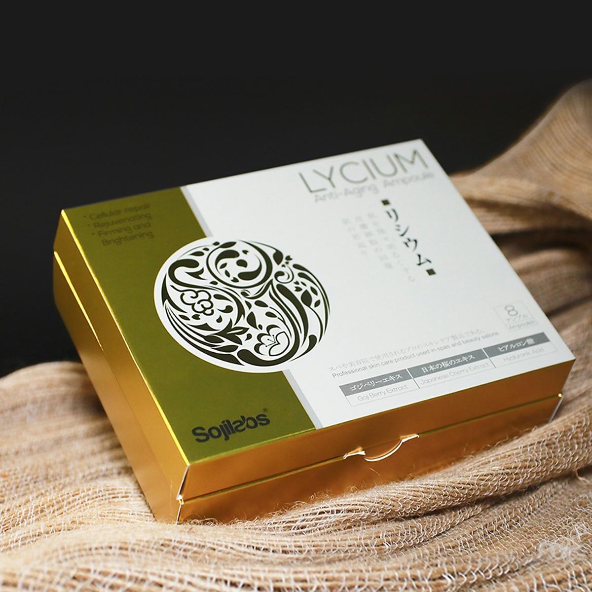 Combo 3 sản phẩm ngăn ngừa lão hóa chuyên sâu Lycium Ampoule Nhật Bản ( tặng 1 Lycium Ampoule )