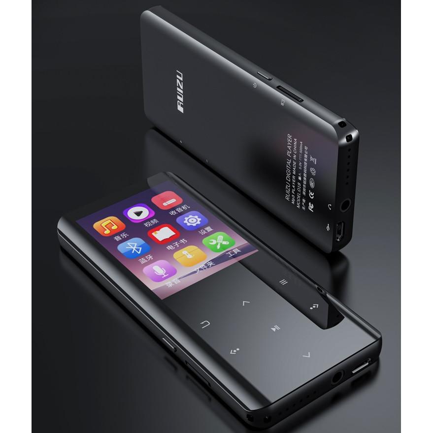 Máy Nghe Nhạc MP3 Màn Hình Cảm Ứng Bluetooth Ruizu D18 Bộ Nhớ Trong 32GB - Hàng Chính Hãng