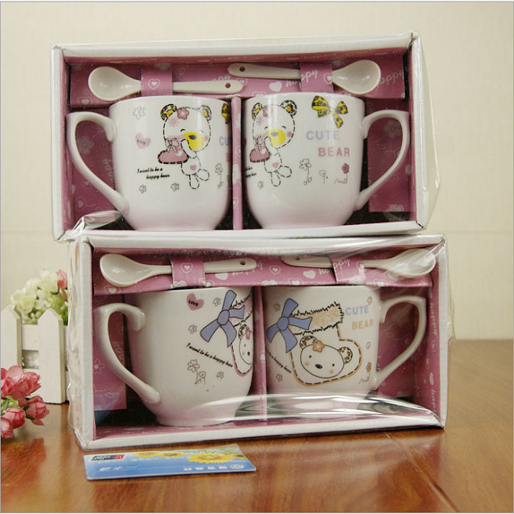 Cặp cốc (ly) sứ cao cấp kèm thìa và hộp quà tặng vô cùng ý nghĩa - Ly - Cốc  Tác giả OEM | ShopSach.com