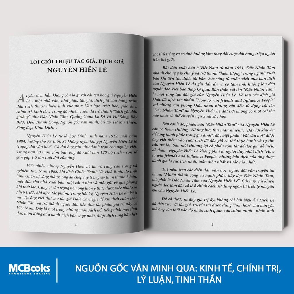 Sách - Nguồn Gốc Văn Minh  - KNBooks