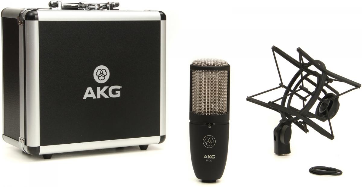 Micro thu âm AKG P420 - mic thu âm cao cấp chuyên nghiệp cho phòng thu và hát livestream - Hàng chính hãng