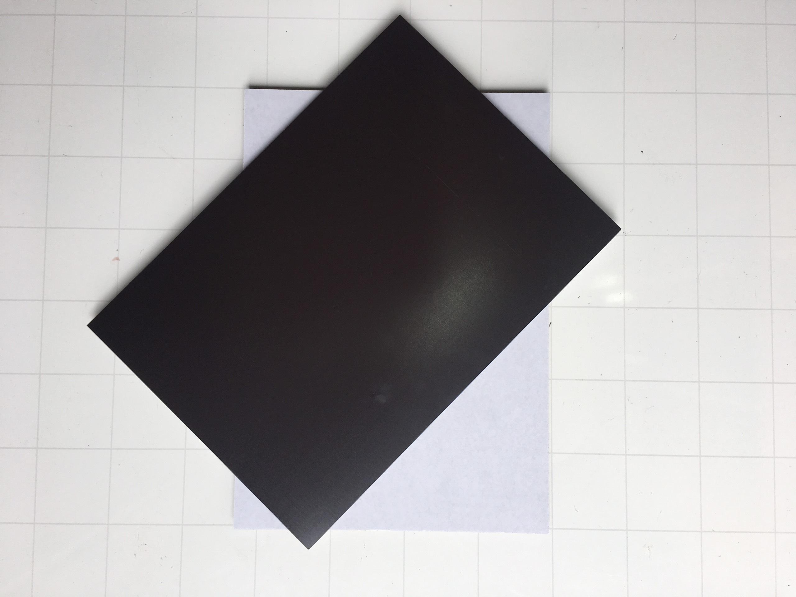 5 Tấm A4 nam châm dẻo có phủ lớp băng keo hai mặt độ dày 0.75mm