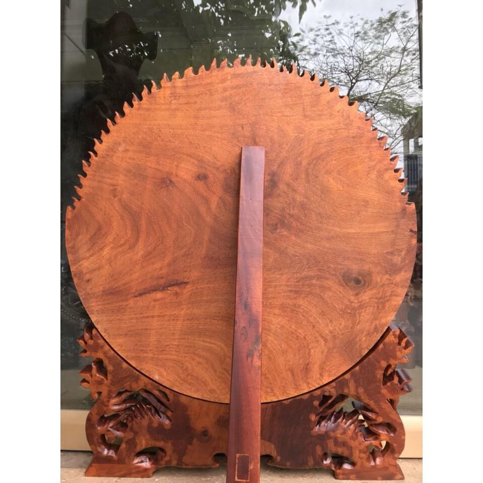 Đĩa hỏa Tinh, đĩa tứ linh gỗ hương hàng đục tay liền khối tích: Long, ly, quy, phượng