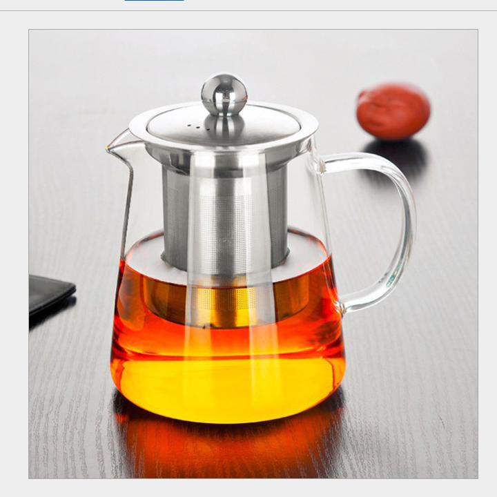 Ấm pha trà thủy tinh có lõi lọc