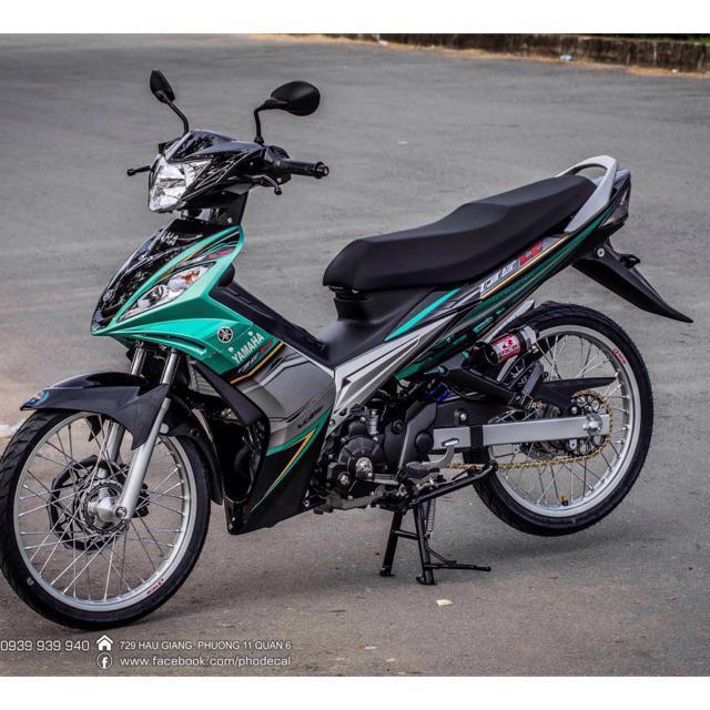 Tem dành cho xe Exciter 135 Lc xanh lá đen Rời