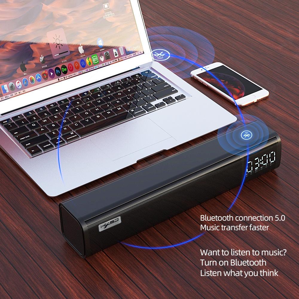 Loa Bluetooth HXSJ Q2, Loa nghe nhạc USB thẻ nhớ, FM, Dùng cho điện thoại, máy tính, tivi - Hàng chính hãng