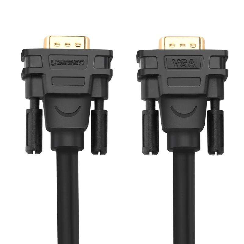 Dây cáp kết nối VGA HDB 15 đực sang HDB 15 đực dài 12M UGREEN VG101 11642 - Hàng Chính Hãng