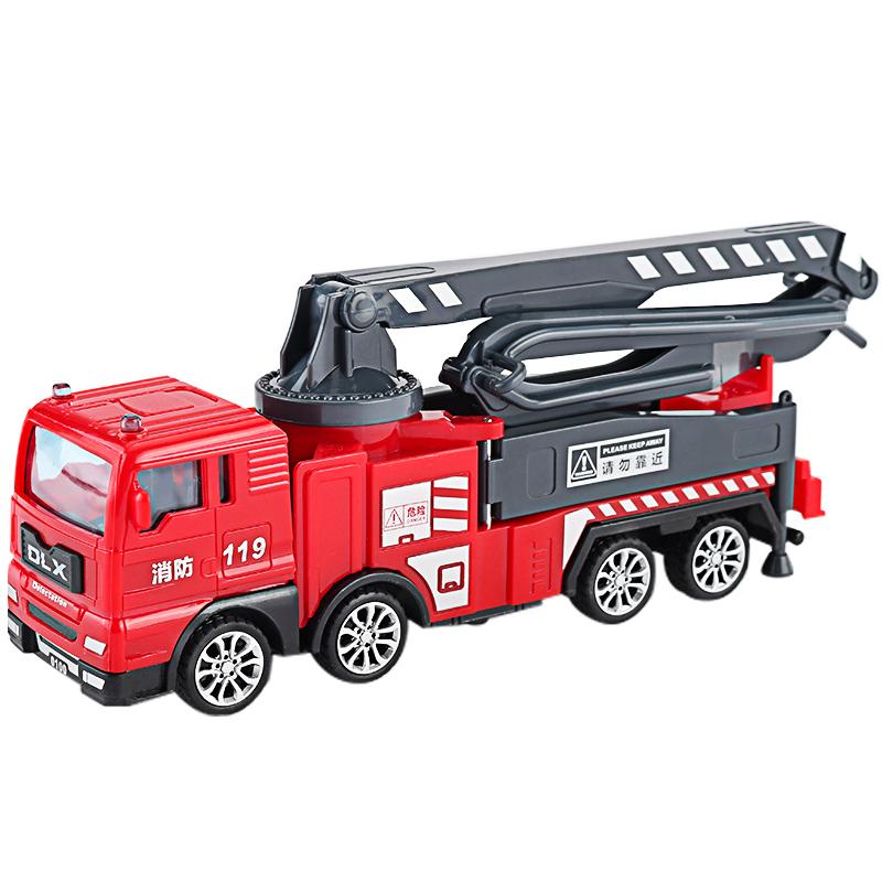 Đồ chơi mô hình xe cứu hỏa KAVY xe tải bơm chữa cháy, xe nâng chở người trên cao chi tiết sắc sảo các khớp chuyển động, bền bỉ vô cùng