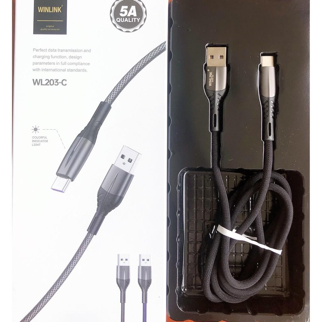 CÁP SẠC WINLINK 203-C MICRO (Sạc full dòng Sony,Samsung dòng A , S, Note, Oppo chân mới)