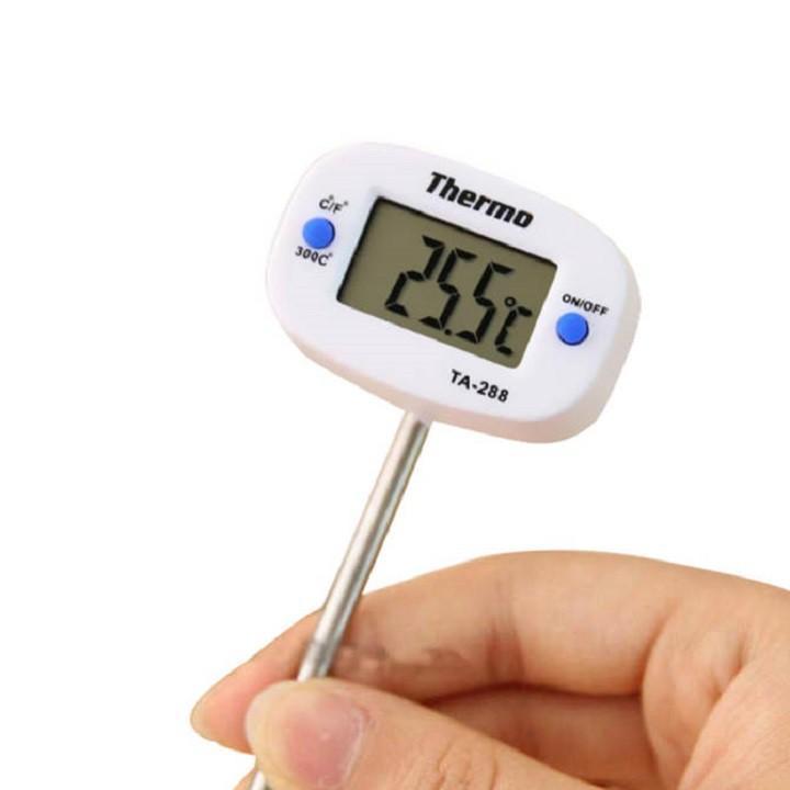 Nhiệt kế thực phẩm, đo nhiệt độ sữa, nước, thức ăn TRM9 chất liệu thép không gỉ