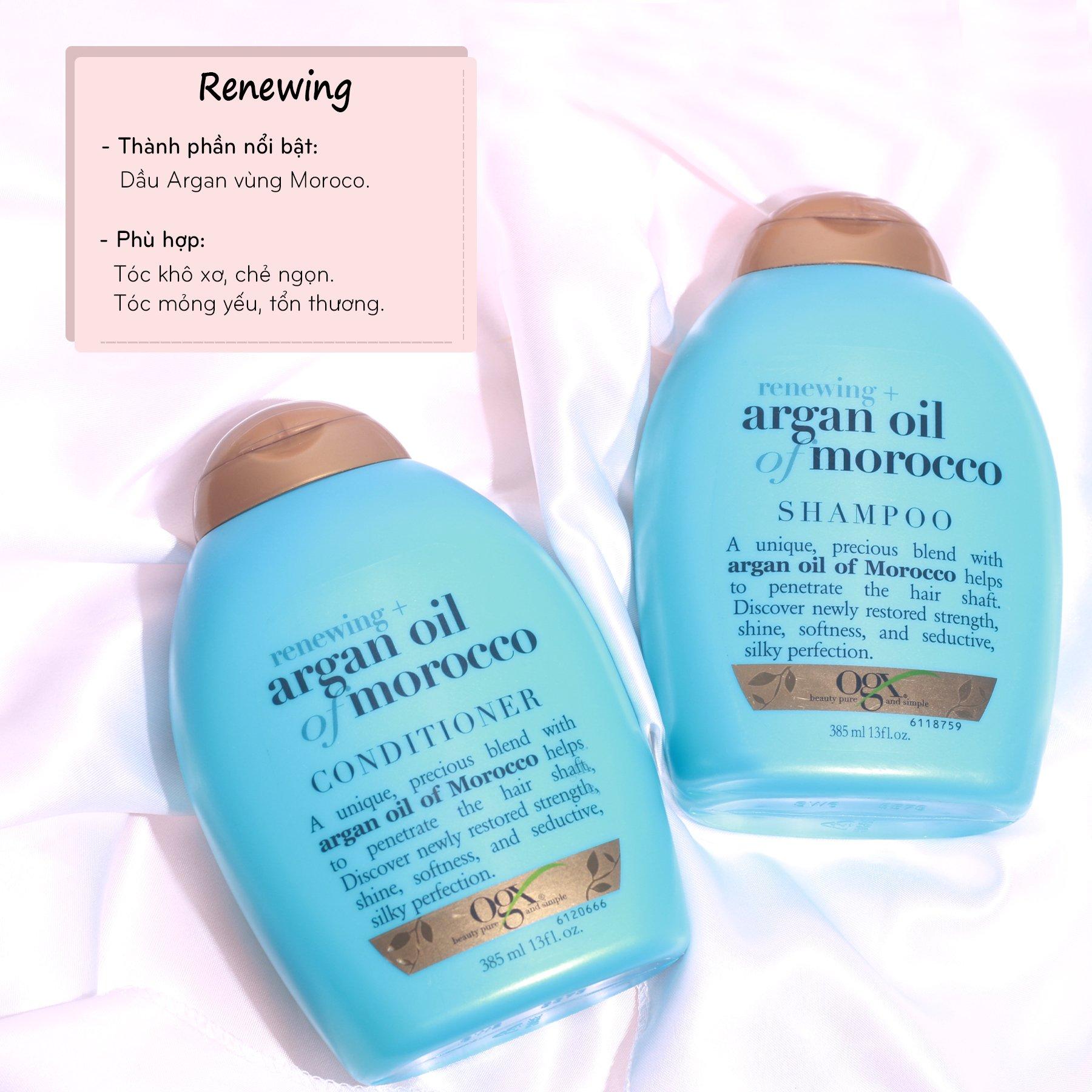 Dầu Gội OGX Renewing + Argan Oil Of Morocco Shampoo 385ml