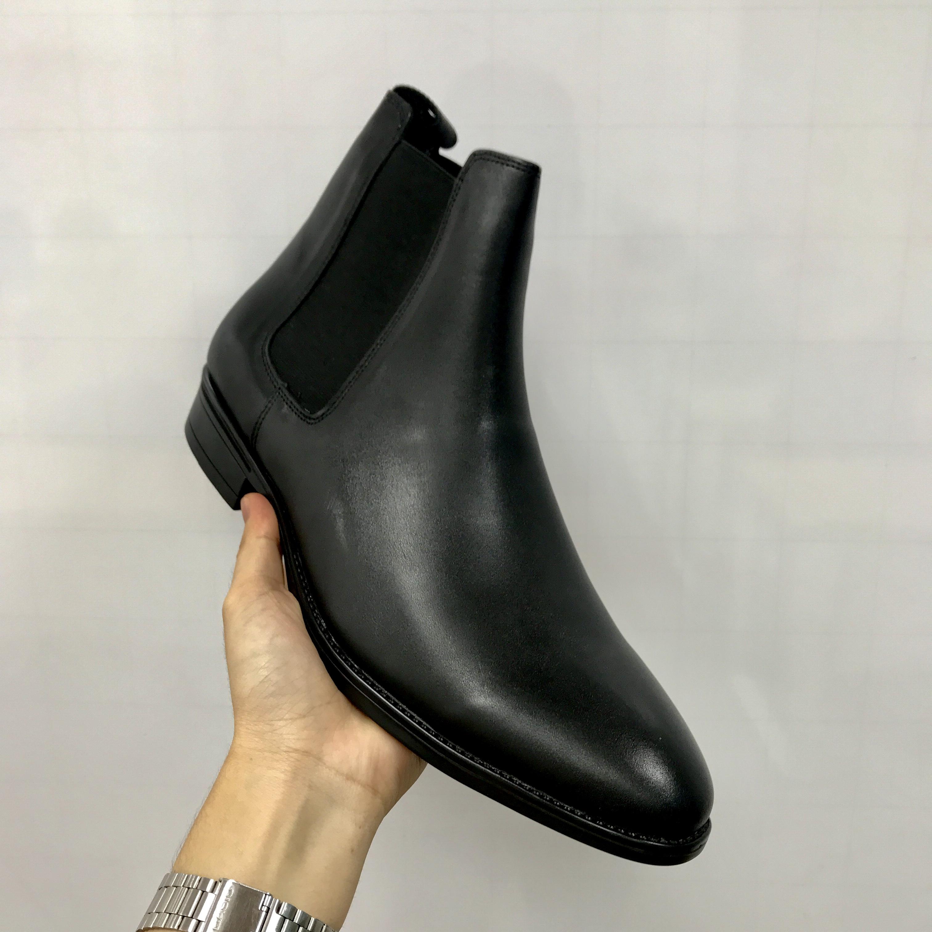 Giày  da nam Chelsea Boots cao cấp da bò thật đế cao su phiên bản 2020 từ size 38 đến 45