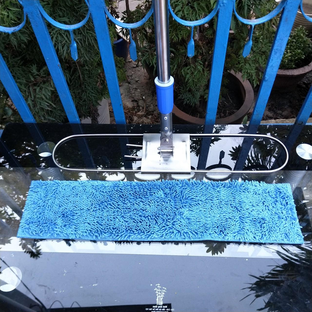 Cây lau sàn tấm san hô xanh SIÊU SẠCH 60 cm cán TĂNG ĐƠ